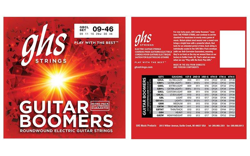 Cuerdas GHS Guitar boomers